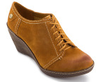 Clarks Women's Hazelnut Ice Shoe - Mustard Yellow 1
