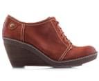 Clarks Women's Hazelnut Ice Shoe - Rust  2
