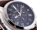 Fossil Men's Grant Chronograph Leather Watch - Brown 2