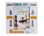 Glass Chess Set & Book 2