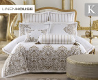 Linen House Couture King Quilt Cover Set - Gold 1