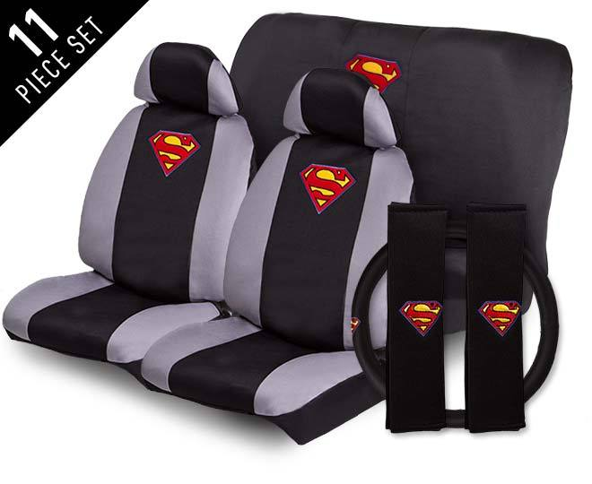 11 Piece Superman Car Seat Cover Set