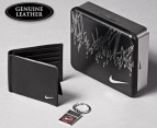 Nike Leather Wallet & Red Keychain 1