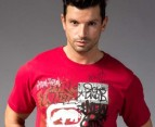 Men's Ecko T-Shirt - Hello Mash Red 2