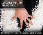 Luxury Shag Rug 160x230cm - Blk/Wh 2