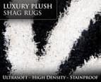 Luxury Shag Rug 160x230cm - Blk/Wh 3