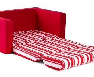 kids wide 2 seater flip out sofa red. Black Bedroom Furniture Sets. Home Design Ideas