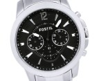 Fossil Men's 44mm Grant Stainless Steel Watch - Black/Silver 3