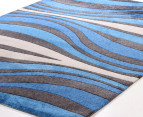 Jungle 160 x 110cm Zen Rug - Blue 2
